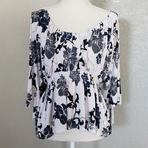 Free people Glenside floral print blouse.